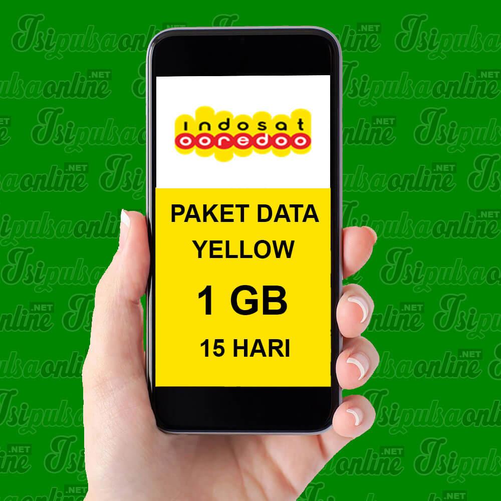 Paket Internet Indosat Data Yellow - Yellow 1GB 15 Hari