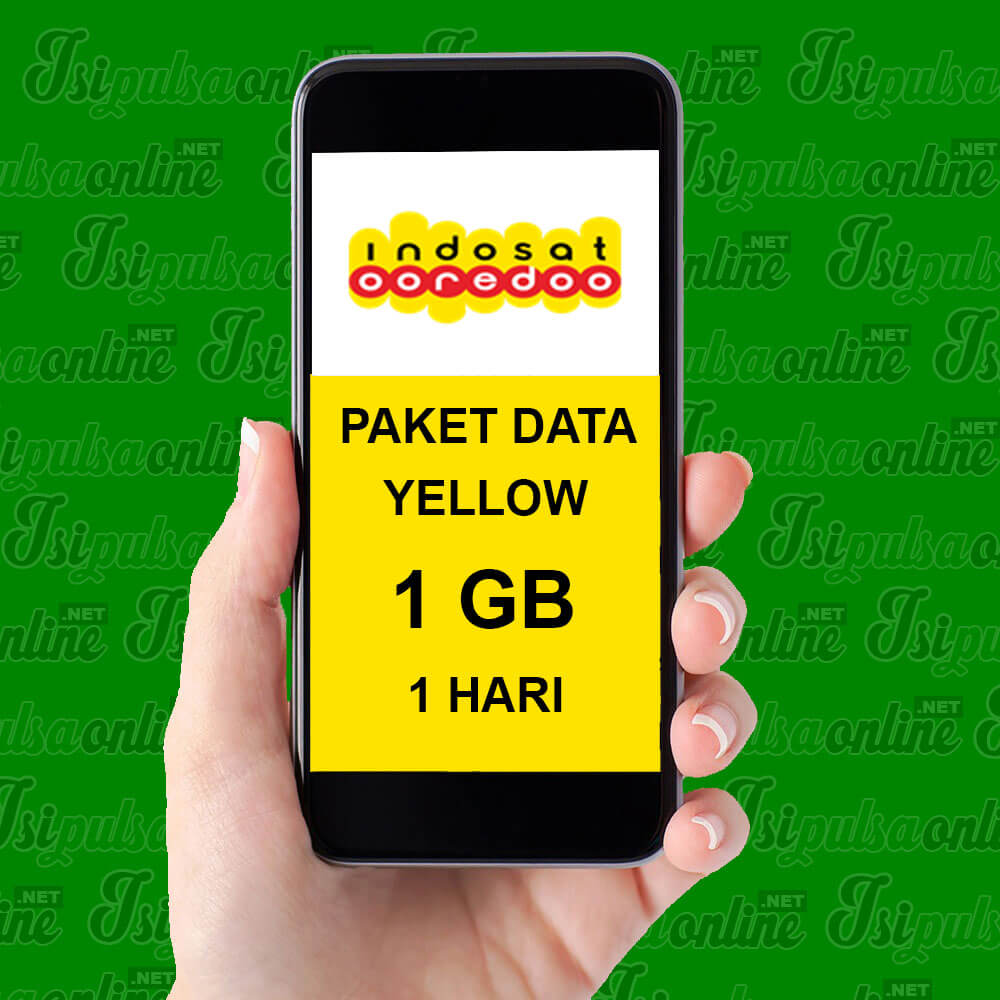 Paket Internet Indosat Data Yellow - Yellow 1GB 1HR
