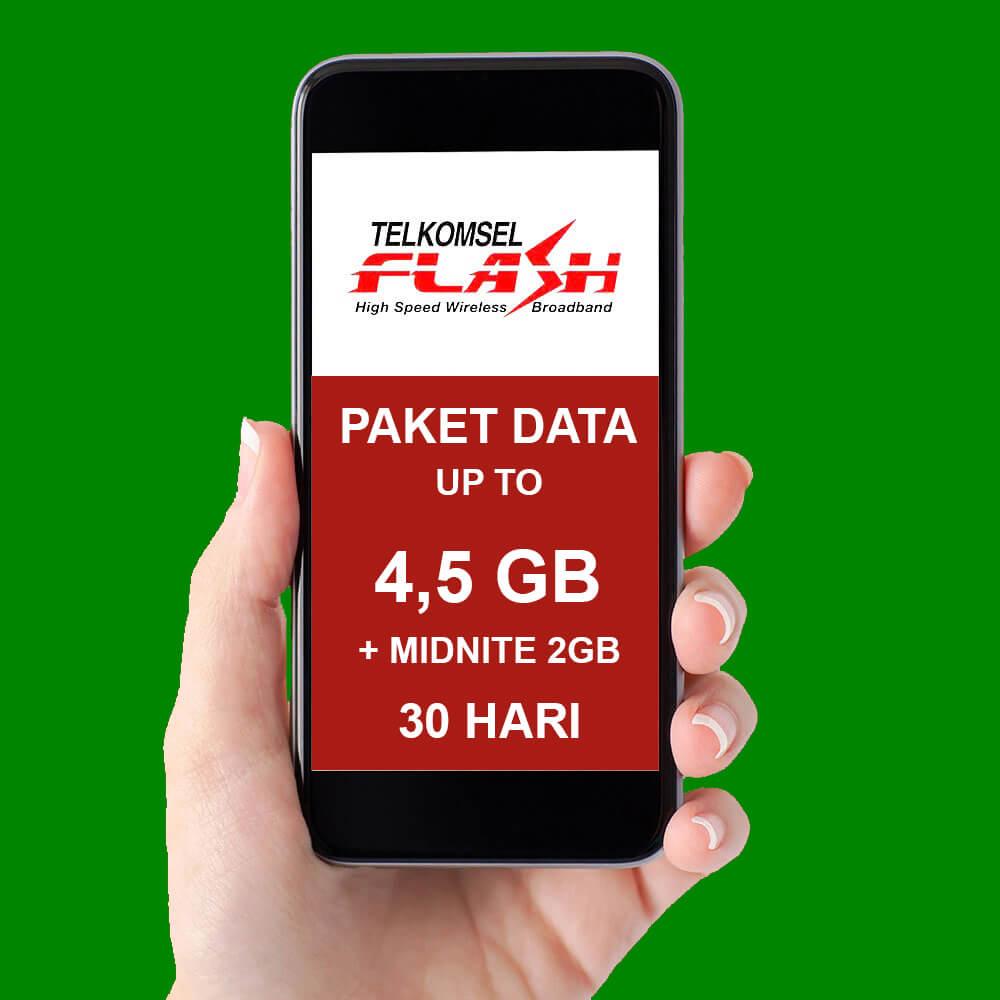 Paket Internet Telkomsel Data - (2,5-4,5GB)+MIDNITE 2GB