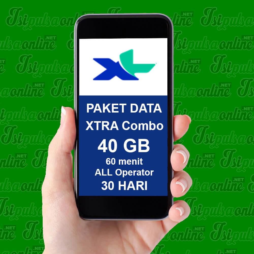 Paket Internet XL Combo Xtra - XTRA Combo 20GB + 20GB